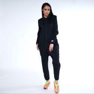Nike international black romper jumpsuit women's